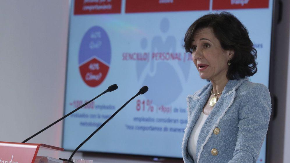 Foto: Ana Botín en la presentación de cuentas de 2017. (EFE)