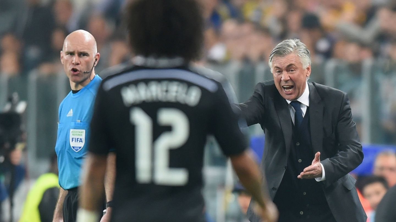 Ancelotti, en un partido con el Real Madrid. (Getty)