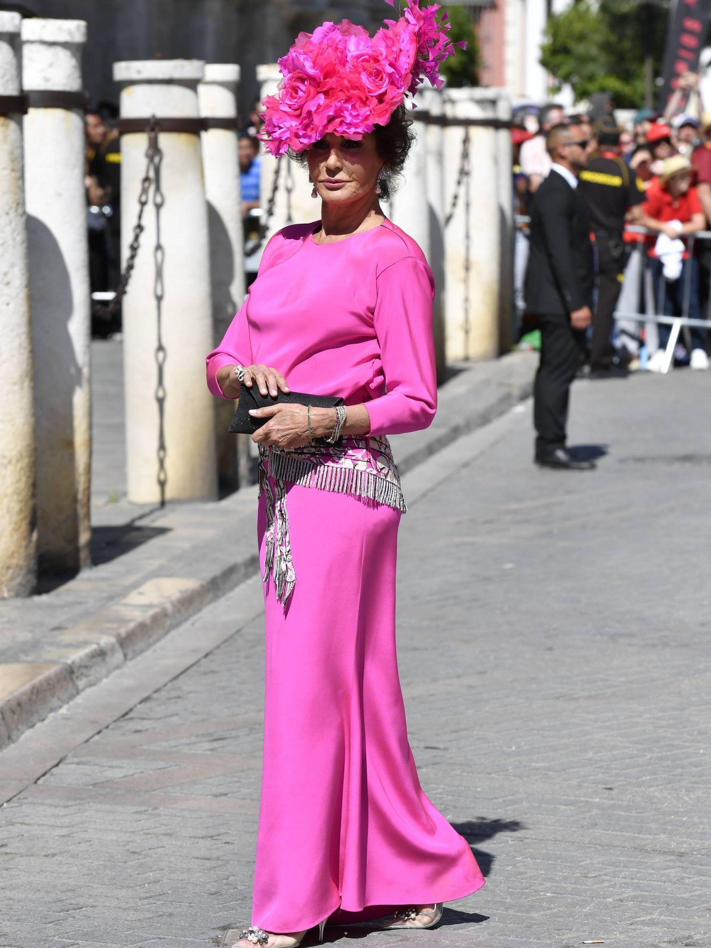 Naty Abascal en la boda de Sergio Ramos y Pilar Rubio. (Cordon Press)