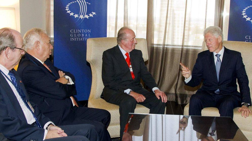 Foto: Spottorno, Margallo, don Juan Carlos y Bill Clinton, en Nueva York en 2012. (EFE)