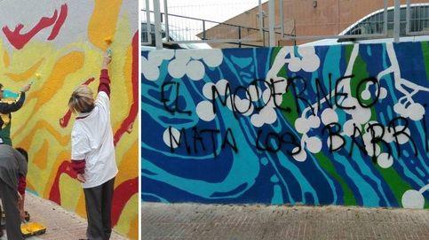 """""""Has pintado sobre la ilusión de los niños"""", destrozan un mural de Tetuán"""