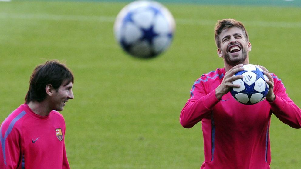 Piqué y Messi celebran con Cesc su derrota en un casino de Barcelona