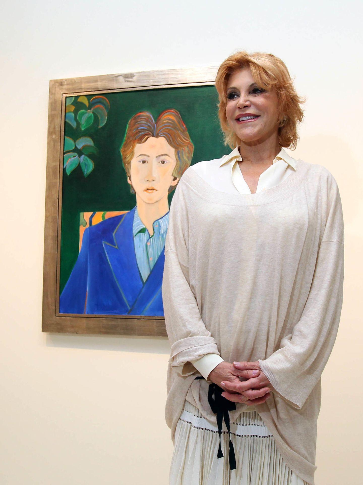 La baronesa Thyssen, Carmen Cervera, en una imagen de archivo en el museo Thyssen-Bornemisza de Madrid. (Gtres)