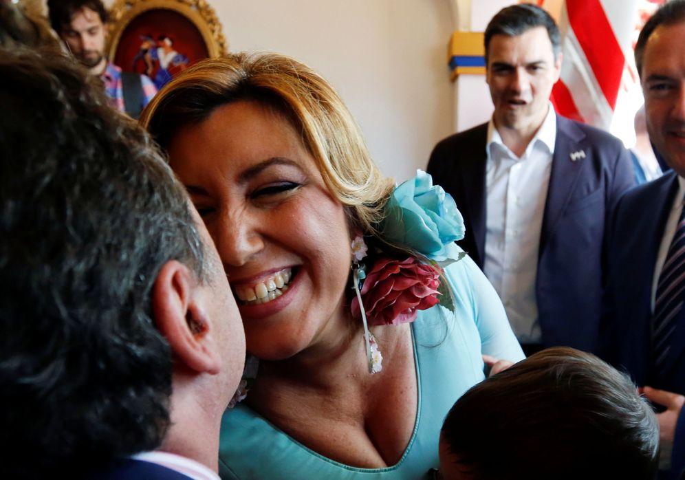 Foto: Susana Díaz y Pedro Sánchez en la Feria de abril, este miércoles. (Reuters)
