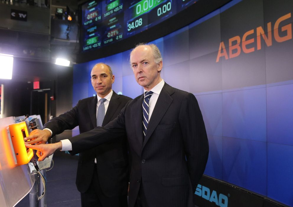 Foto: El presidente de Abengoa, Felipe Benjumea (d), y el CEO, Manuel Sánchez