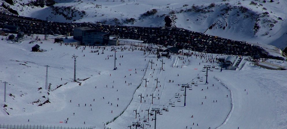 Foto: Vista general de la base de Alto Campoo, a 1635 metros