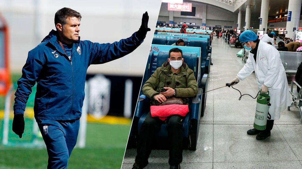 Foto: A la izquierda, Pedro Morilla. A la derecha, un operario desinfecta un estación en Wuhan. (Imagen cedida/Reuters)