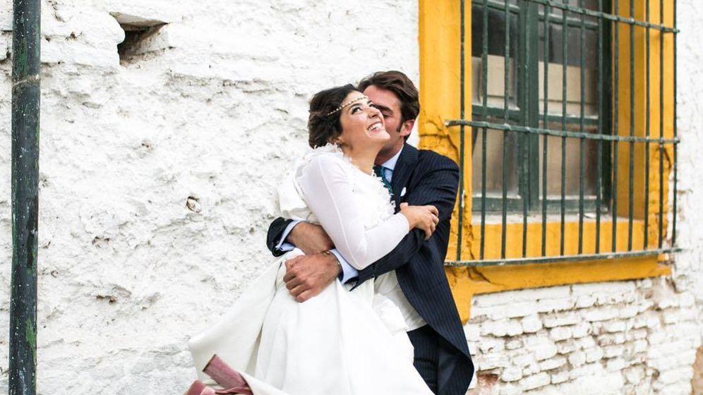 Foto:  Coki y Javier el día de su boda. (Instagram)