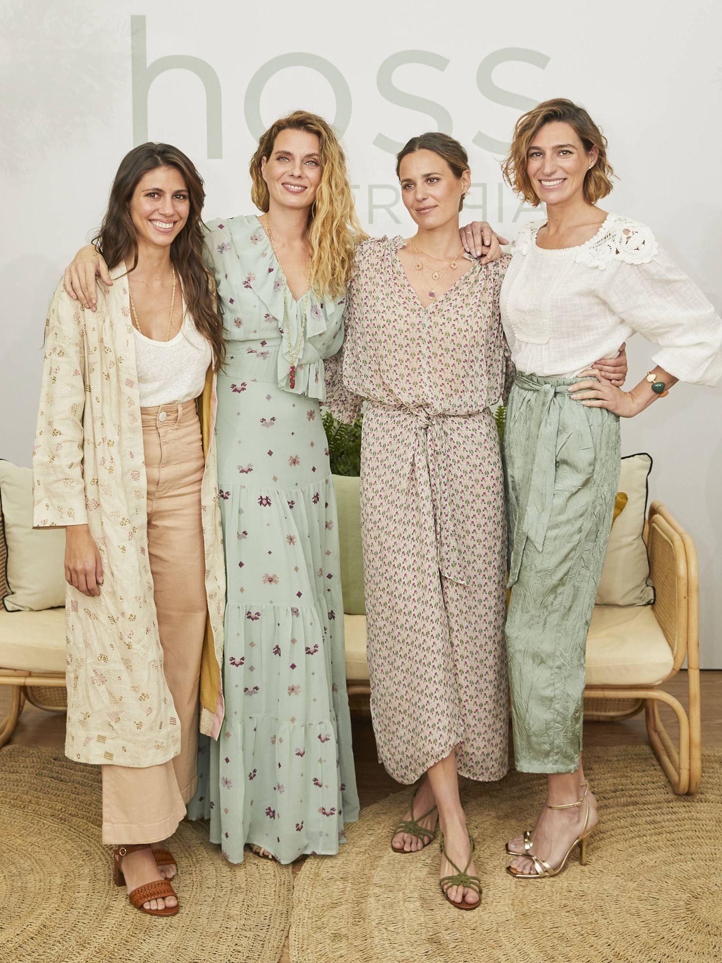 Las cuatro hermanas posan con looks de la firma. (Hoss Intropia)