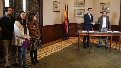 Sánchez hace ahora vicepresidente a Iglesias y acepta tres ministros morados y sin vetos