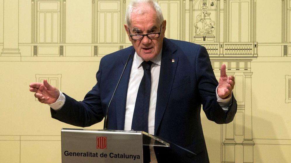Foto: El 'conseller' de Acción Exterior, Relaciones Institucionales y Transparencia, Ernest Maragall, en una rueda de prensa en agosto. (EFE)