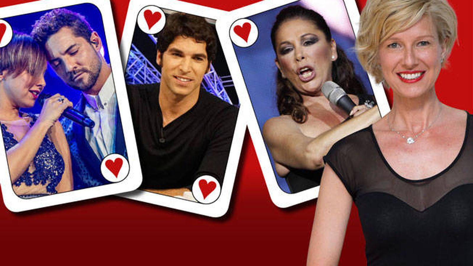Foto: La presentadora Anne Igartiburu y algunos de sus grandes 'ases'. (Montaje: EL CONFI TV)