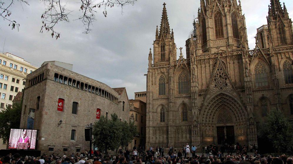 Foto: Imagen de las inmediaciones de la catedral de Barcelona. (EFE)