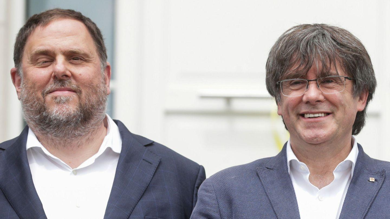 Oriol Junqueras y Puigdemont. (EFE)