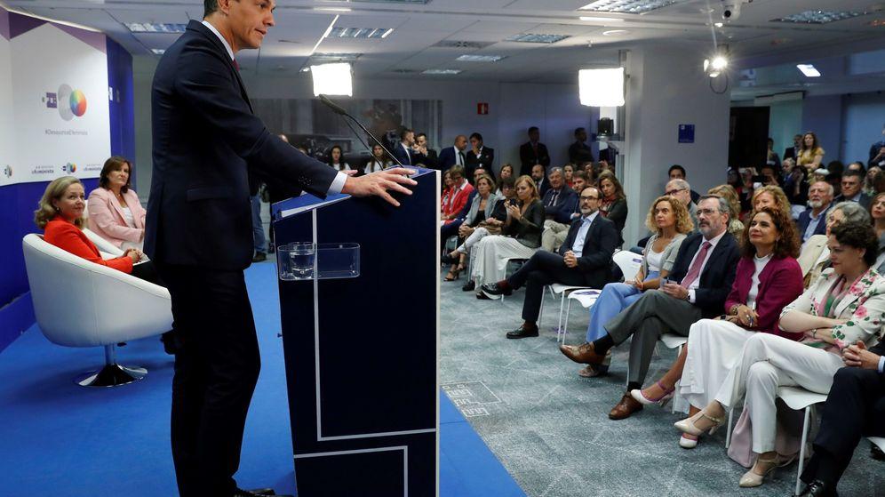 Foto: El presidente del Gobierno, Pedro Sánchez, en un desayuno en Madrid. (EFE)
