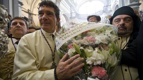 El ajetreado Domingo de Ramos de Antonio Banderas en Málaga