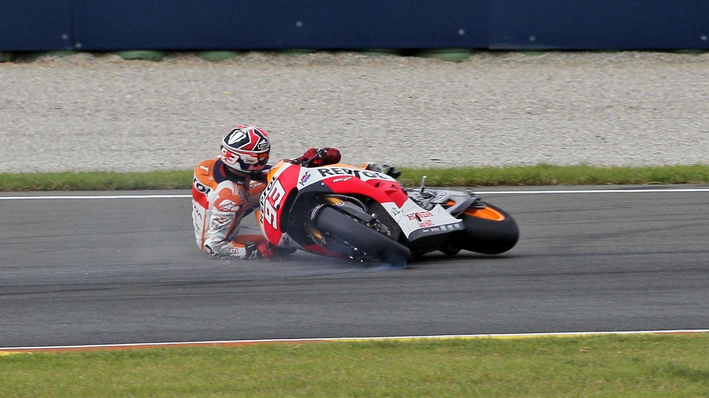 Las 25 caídas de Marc Márquez que amenazan su título en MotoGP