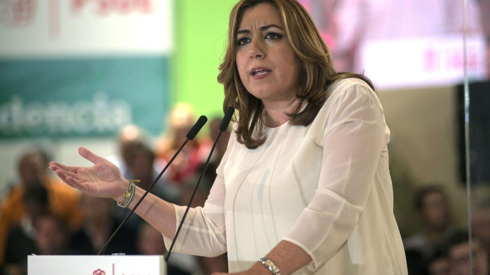 Foto: Susana Díaz durante su intervención en un acto del PSOE. (EFE)