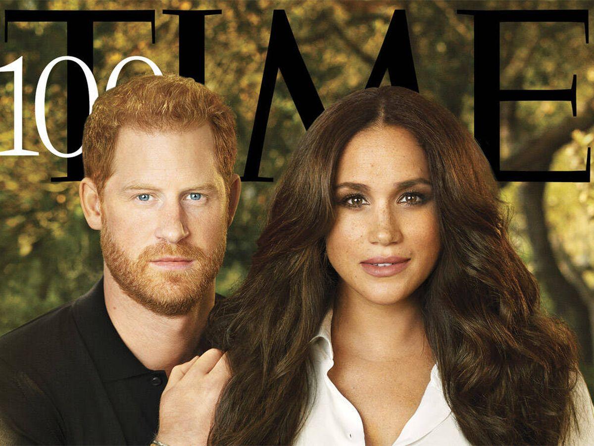 Foto: Los duques de Sussex en 'Time'. (Pari Dukovic for Time)