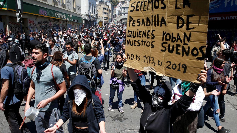 Foto: Una de las protestas en Valparaíso este fin de semana. (Reuters)