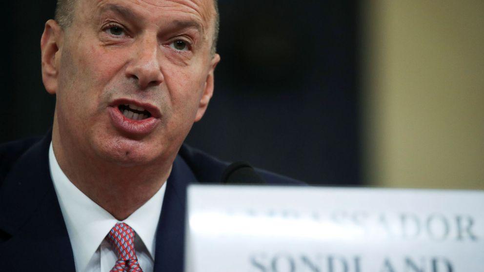 Embajador de EEUU ante la UE dice que hubo quid pro quo en la orden de Trump a Ucrania