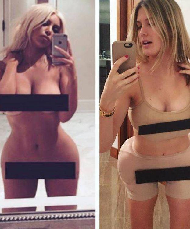 Foto: Kim Kardashian y Eugenie Bouchard en una imagen de Instagram