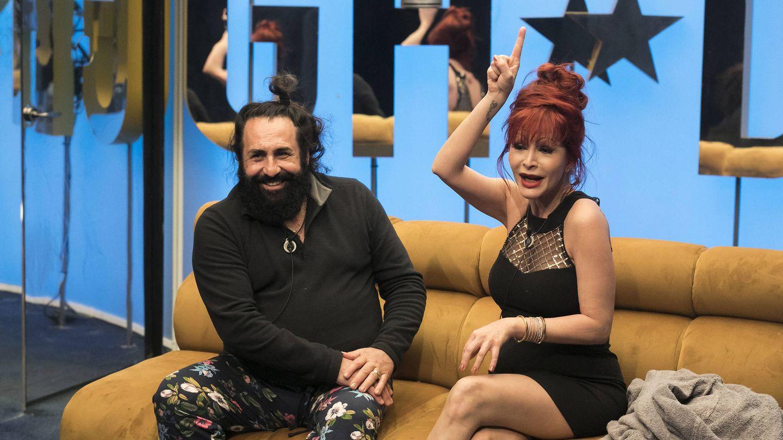 Yurena y Juan Luís en el confe antes de nominar. (Tele 5)