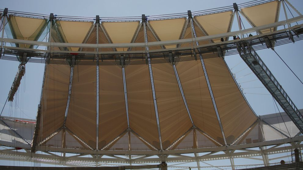 'Habemus cubierta': así van las obras del nuevo estadio del Atlético