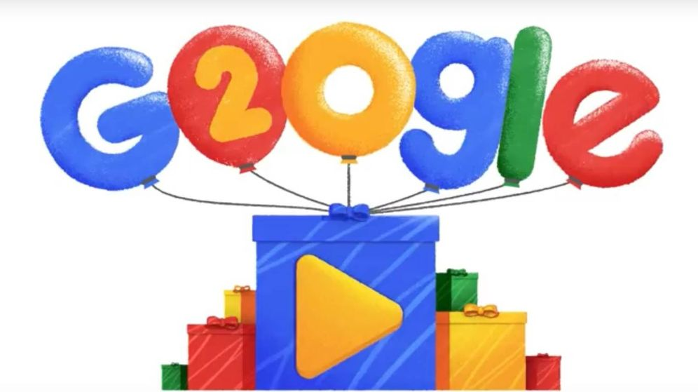 Foto: Google celebra su 20 aniversario