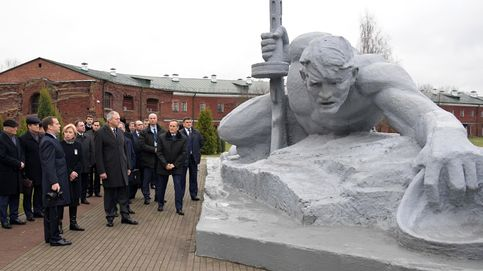 El primer ministro ruso Dmitry Medvedev visita a Brest