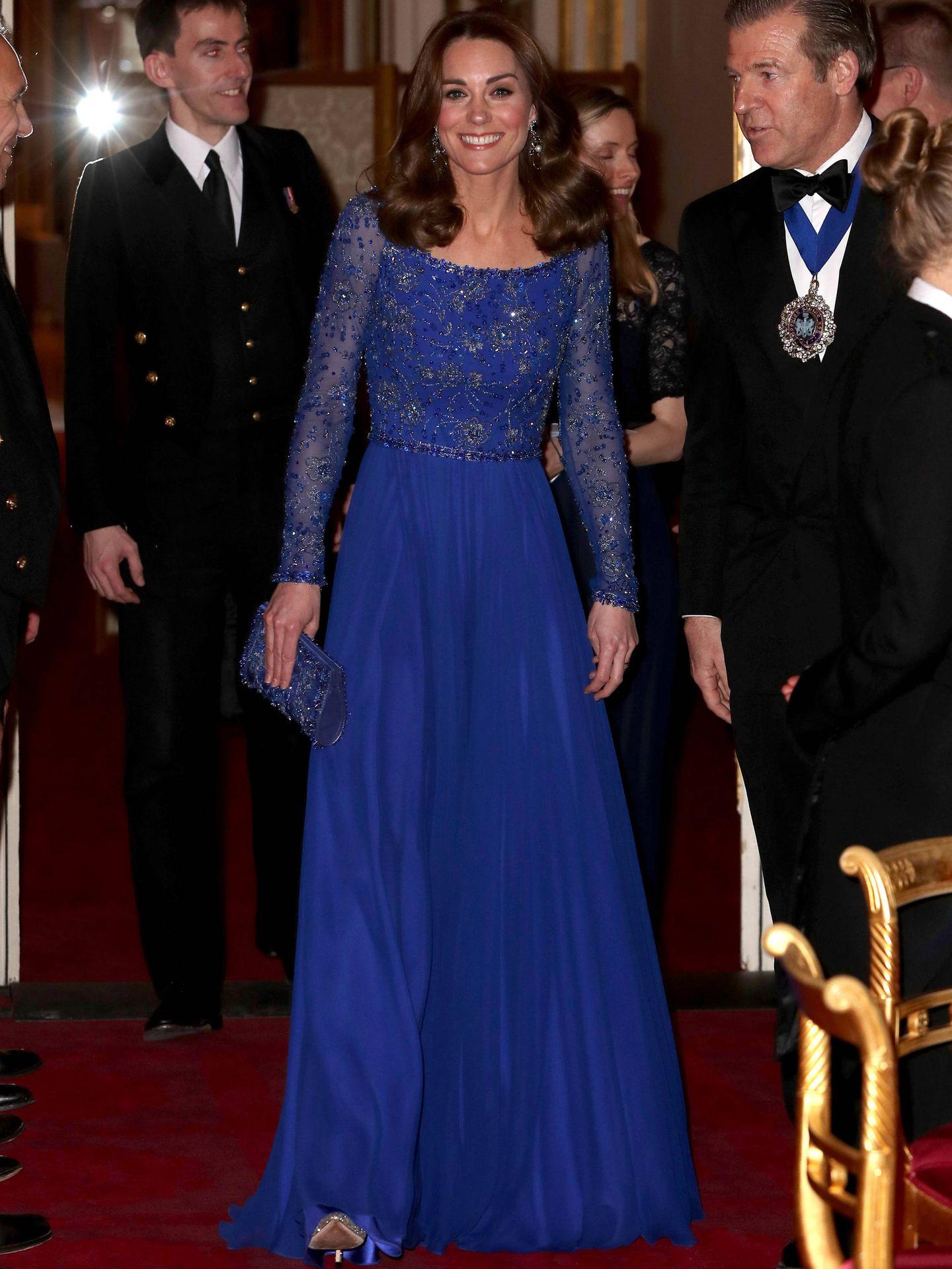 La duquesa de Cambridge, este martes en Buckingham. (Getty)