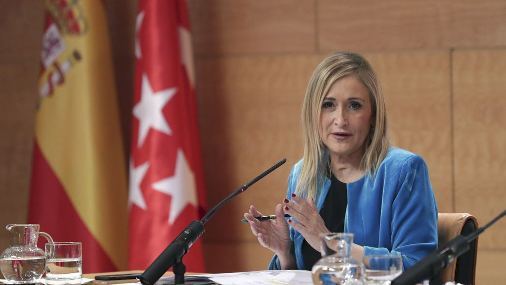 Foto: Cristina Cifuentes en la Asamblea de Madrid.(EFE)