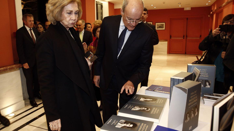 La reina Sofía, este lunes en Atenas. (EFE)