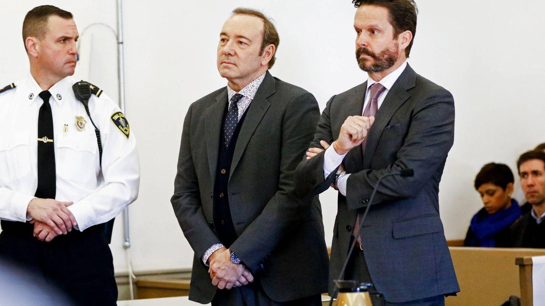 Spacey, durante el juicio por presunto acoso sexual. (Getty)