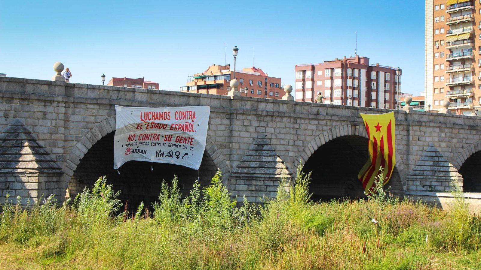 Foto: Pancarta colocada por Arran en Madrid. (Arran)