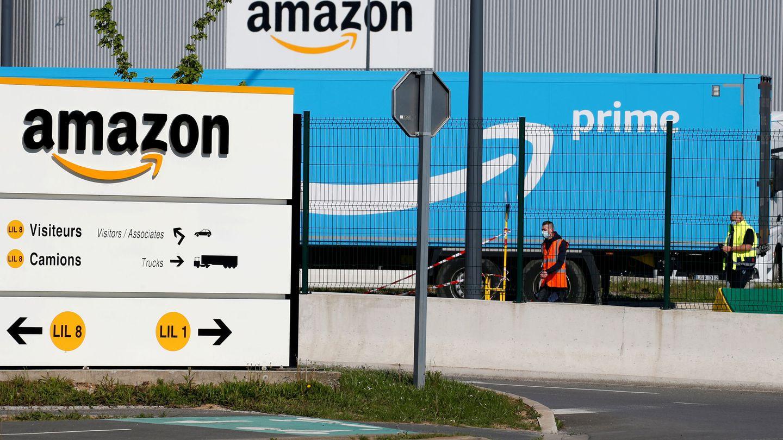 Centro logístico de Amazon en Francia. (Reuters)