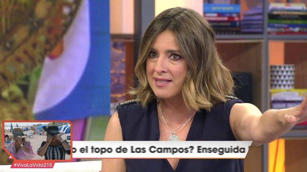 Foto: Sandra Barneda, en 'Viva la vida'. (Telecinco).