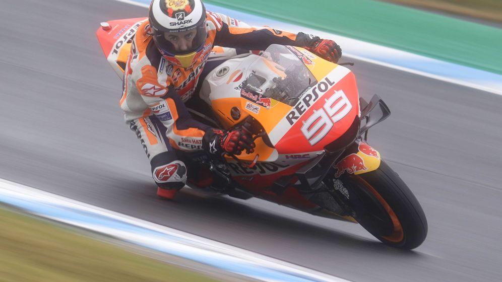 Foto: Jorge Lorenzo con su Honda en Motegi. (EFE)