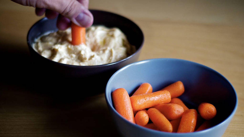 Zanahorias y hummus
