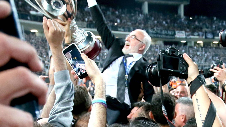 El millonario, celebrando un título del PAOK. (CP)