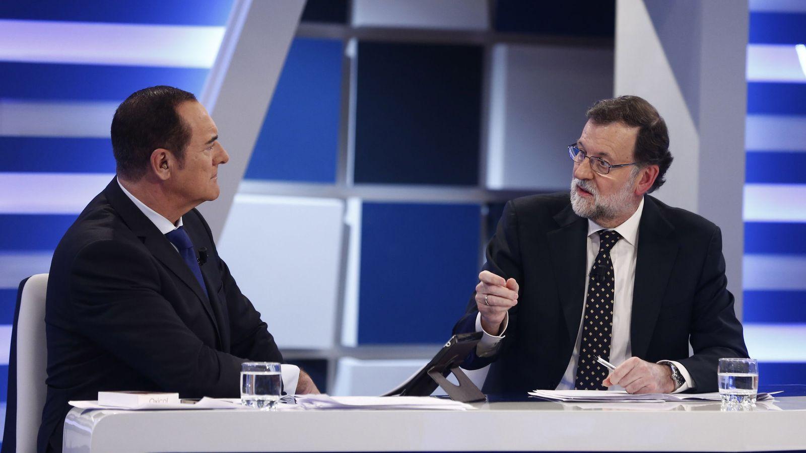 Foto: Mariano Rajoy, durante una entrevista en Trece. (EFE)