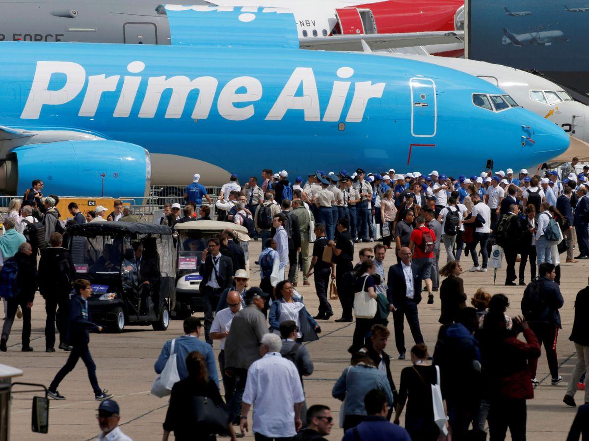 Foto: Aviones de Amazon Prime Air. (EFE)