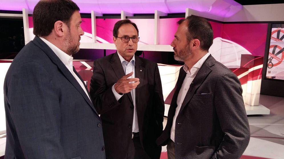 Foto: Oriol Junqueras, Vicent Soler y Biel Barceló, vicepresidente de Baleares.