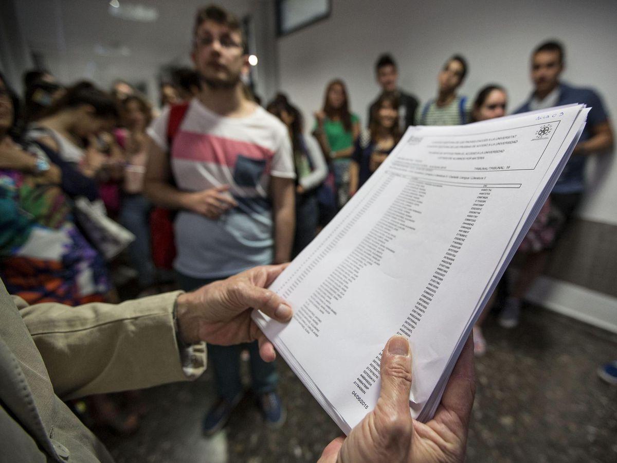 Foto: Prueba de selectividad en Comunidad Valenciana. (EFE)