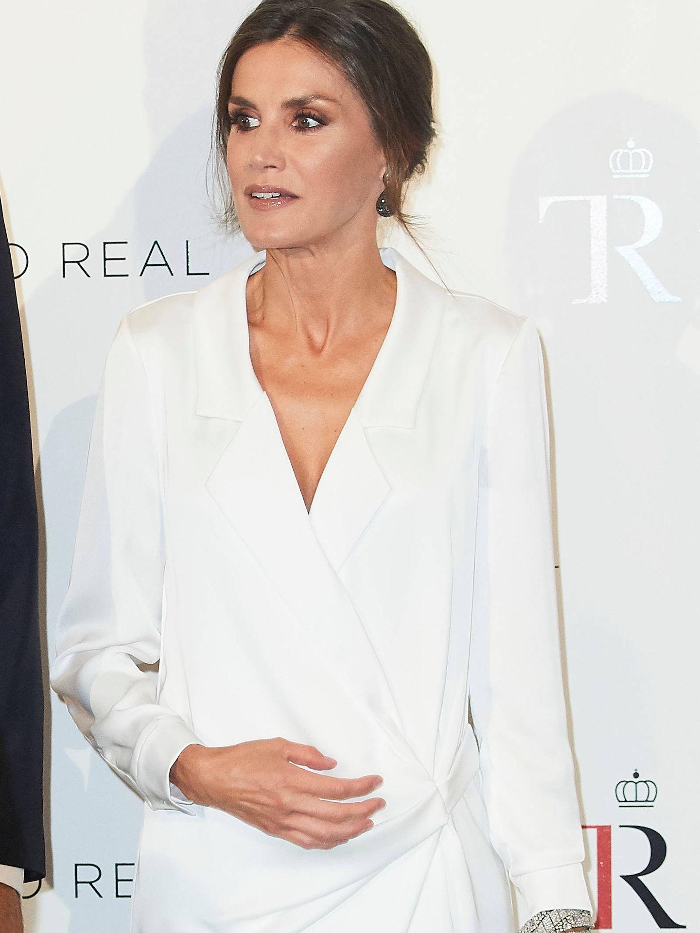 La reina Letizia, el pasado septiembre con las gemelas de Cartier. (Limited Pictures)