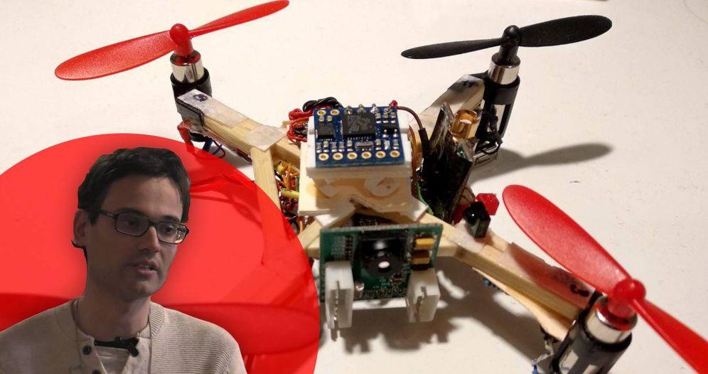 Este joven ingeniero zaragozano ha creado un dron casero prácticamente indetectable