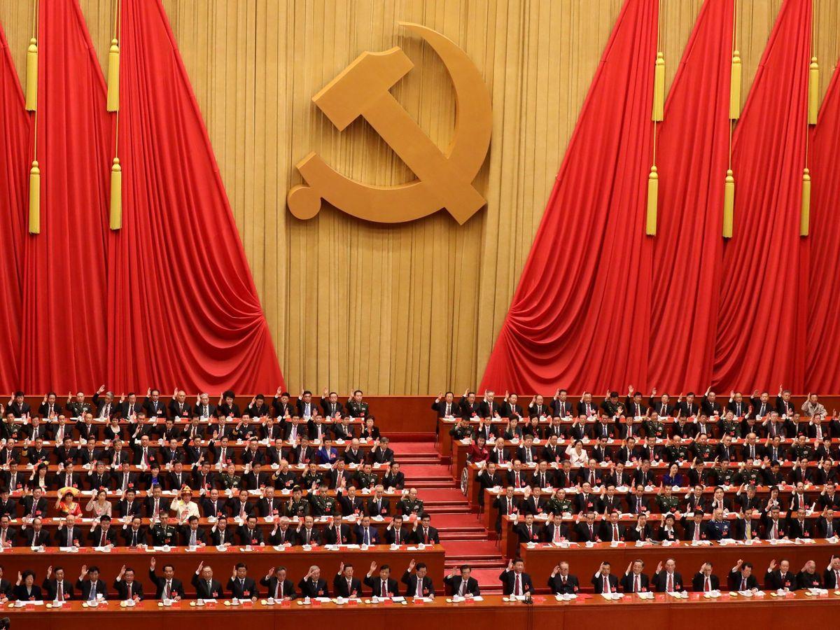 Foto: Ceremonia del Congreso Nacional del Partido Comunista de China. (EFE)