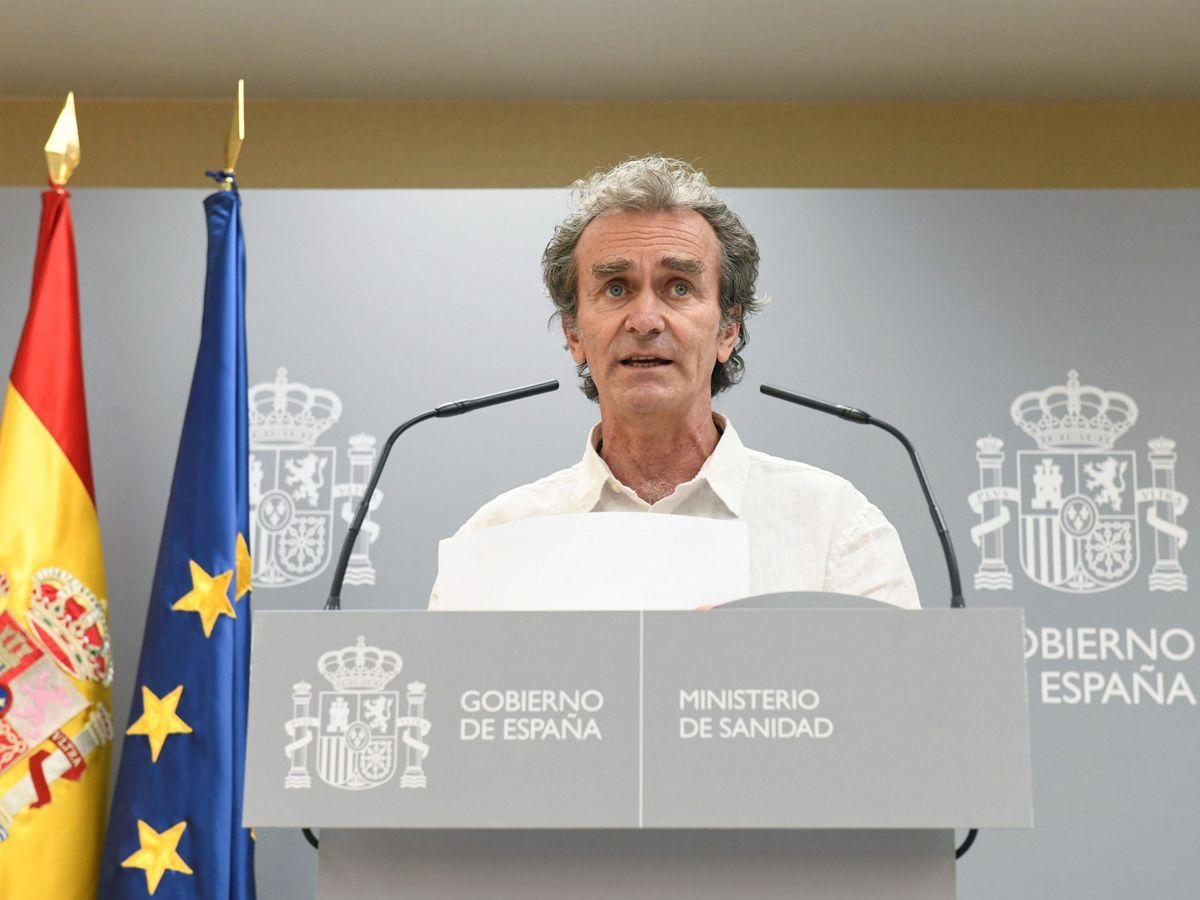 Foto: Fernando Simón, durante su rueda de prensa de este jueves en el Ministerio de Sanidad. (EFE)