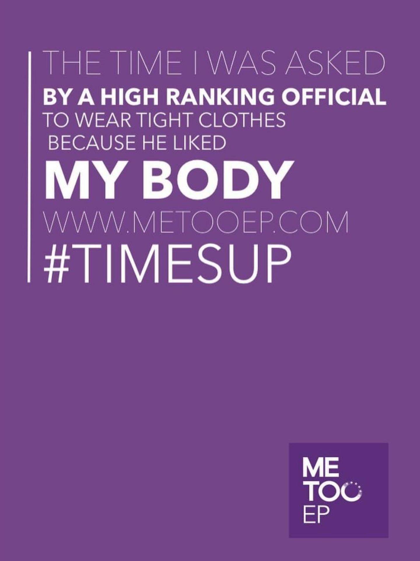 'Esa vez en la que un oficial de alto ranfo me pidió que llevara ropa ajustada porque le gustaba mi cuerpo', uno de los testimonios de #MeTooEP