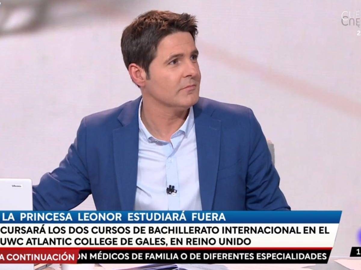 Foto: Jesús Cintora, en 'Las cosas claras'. (RTVE).